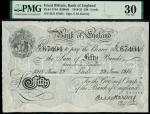 Bank of England, Ernest Musgrave Harvey (1918-1925), 50, Leeds, 29 June 1918, serial number 22/X 674