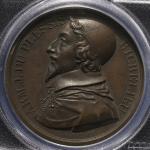 FRANCE Louis XVIII ルイ18世(1814~24) AE Medal 1821 PCGS-SP62BN 见本打ち AU~UNC