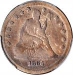 1864-S Liberty Seated Quarter. Briggs 1-A. VG Details--Scratch (PCGS).