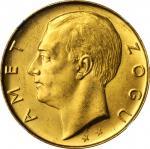 ALBANIA. 100 Franga Ari, 1927-R. Rome Mint. NGC MS-63.