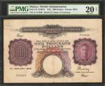 1942年马来亚英属婆罗洲一仟圆。