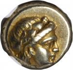 LESBOS. Mytilene. EL Hekte (2.56 gms), ca. 377-326 B.C.