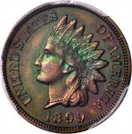 1899 Indian Cent. Proof-66 RB (PCGS). CAC.