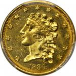 1834 Classic Head Quarter Eagle. McCloskey-3. Large Head. MS-64 (PCGS). CAC.