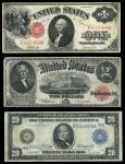 Large Size Federal Currency Selection. Fr.37 $1 Legal Tender VF, light stains; Fr.60 $2 Legal Tender
