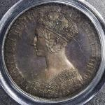 GREAT BRITAIN Victoria ヴィクトリア(1837~1901) Crown 1847 PCGS-PR67 Proof トーン Proof FDC