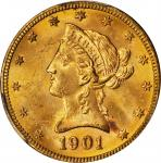 1901-S Liberty Head Eagle. MS-64 (PCGS).