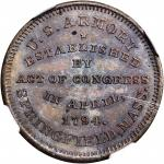 (C. 1862). Muling of J.A. Bolen's Springfield Armory and Die Sinker card. Copper. 28mm. Musante JAB