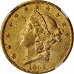 1863-S Liberty Head Double Eagle. AU-58 (NGC).