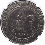 GREAT BRITAIN Edward VI エドワード6世(1547~53) Crown 1553 NGC-VF20 F+