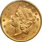 1876 Liberty Head Double Eagle. MS-62 (PCGS).