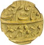 MUGHAL: Aurangzeb, 1658-1707, AV mohur, Bijapur, AH1104 year 37, KM-315。15, with mint epithet dar al