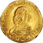 ITALY. Modena. 4 Scudi dOro, ND (1629-58)-GFM. Francesco I dEste. NGC AU-50.