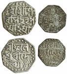 Assam, Śiva Simha (1714-44), octagonal Half-Rupee, 5.66g, undated, citing Queen Phuleśvari