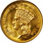 1854 Three-Dollar Gold Piece. MS-67 (PCGS). CAC.