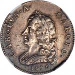 GREAT BRITAIN. Pattern Farthing Struck in Silver, 1676. Charles II (1660-85). NGC PROOF-53.