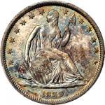 1839 Liberty Seated Half Dollar. Drapery. WB-102. MS-65+ (PCGS).
