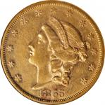 1865 Liberty Head Double Eagle. AU-53 (NGC).