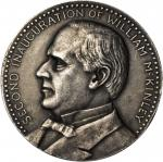 1901 William McKinley Inaugural Medal. Second Inauguration. Silver. 44.4 mm. 57.4 grams. Dusterberg-