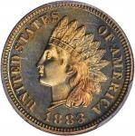 1883 Indian Cent. Proof-66 RB (PCGS).
