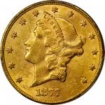 1877-S Liberty Head Double Eagle. MS-61 (PCGS).