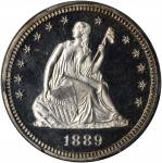 1889 Liberty Seated Quarter. Proof-66 Cameo (PCGS).