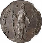1787 Massachusetts Cent. Ryder 2b-A, W-6040. Rarity-2. Arrows in Left Talon, Horned Eagle. MS-61 BN