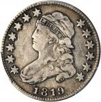 1819 Capped Bust Quarter. B-3. Rarity-1. Small 9. Fine Details--Scratch (PCGS).