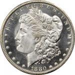1880-CC Morgan Silver Dollar. MS-67 PL (PCGS).