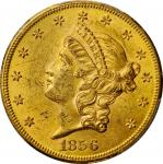 1856-S Liberty Head Double Eagle. Unc Details--Cleaned (PCGS).