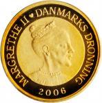 DENMARK. 10 Kroner, 2006. PCGS PROOF-69 Deep Cameo.