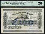 Northern Bank Limited, Northern Ireland, 」100, 1 October 1968, serial number N-I/BB 03910, (Pick 186