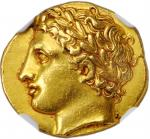 SICILY. Syracuse. Agathokles, 317-289 B.C. AV Drachm (Hemistater) (4.29 gms), ca. 317-310 B.C. NGC C