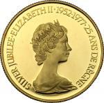 World Coins, Canada.  Elizabeth II (1952 -). 100 dollars 1977. Fr. 8. 16.9 g.  27 mm.  优美