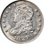1827 Capped Bust Dime. JR-5. Rarity-3. Pointed Top 1 in 10 C. MS-66 (NGC).