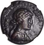 SYRIA. Chalcidice. Chalcis. Cleopatra VII, 51-30 B.C. AE 18 (4.83 gms), Year 21/ Year 6 (32/1 B.C.).
