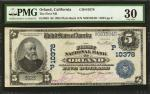 Orland, California. $5 1902 Plain Back. Fr. 603. The First NB. Charter #10378. PMG Very Fine 30.