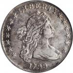 1799 Draped Bust Silver Dollar. BB-163, B-10. Rarity-2. EF Details--Repaired (PCGS).