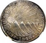 GUATEMALA. 8 Reales, 1846/2-NG A. Nueva Guatemala Mint, Assayer