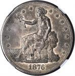 1876-S Trade Dollar. Type I/I. MS-63 (NGC).