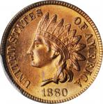1880 Indian Cent. MS-66 RB (PCGS). CAC.