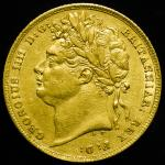 GREAT BRITAIN George IV ジョージ4世(1820~30) Sovereign 1824 返品不可 要下见 Sold as is No returns VF