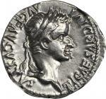TIBERIUS, A.D. 14-37. AR Denarius (3.70 gms), Lugdunum Mint, ca. A.D. 14-37.