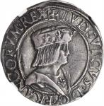 ITALY. Milan. Teston, ND (1499-1500). Louis XII of France (1500-13). NGC EF-45.