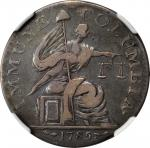 1785 Immune Columbia / Nova Constellatio. W-1982. Rarity-8. 13 Stars. Silver. Plain Edge. EF Details