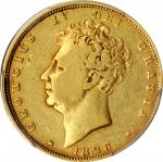 GREAT BRITAIN. Sovereign, 1826. London Mint. George IV. PCGS Genuine--Scrape, VF Details Gold Shield