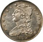 1834 Capped Bust Quarter. B-1, FS-901. O/F in OF. MS-62 (PCGS). CAC.