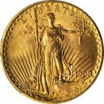 1908 Saint-Gaudens Double Eagle. No Motto. MS-65 (PCGS).