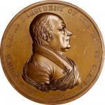 1825 John Quincy Adams Indian Peace Medal. Copper, Bronzed. First Size. First Reverse. Julian IP-11,