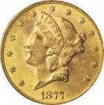 1877 Liberty Head Double Eagle. MS-62+ (PCGS). CAC.